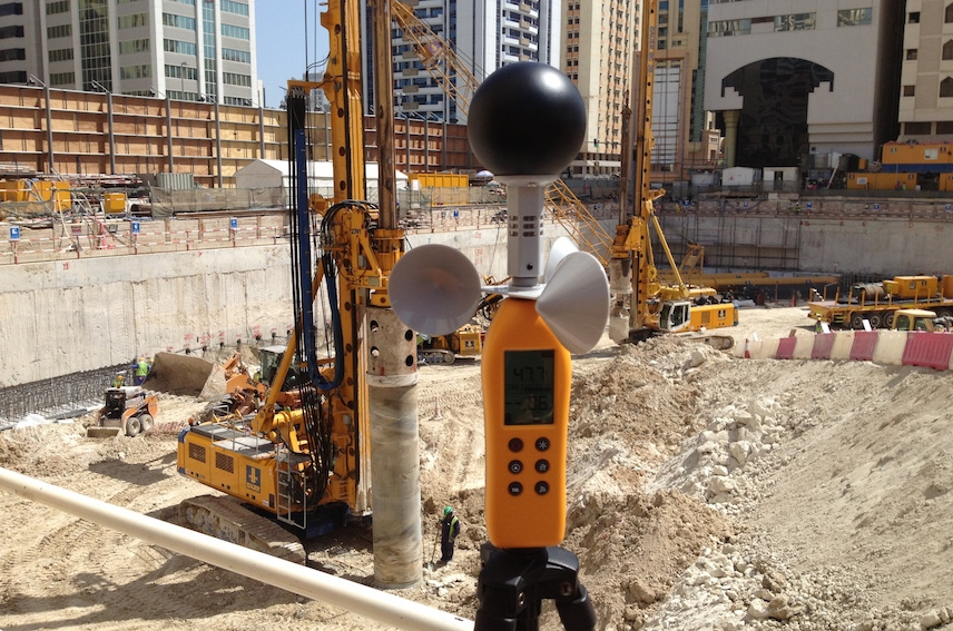 Live demo at one of Al Fara'a General Contracting's work sites at downtown Abu Dhabi
