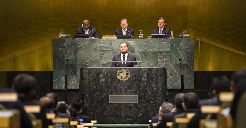 """Climate Change is Not Hysteria – It's a Fact"" Leonardo Dicaprio at UN"